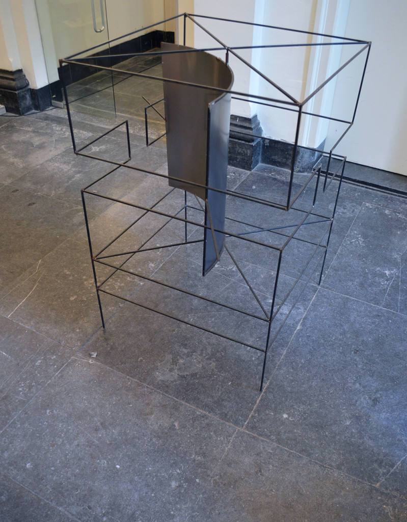 1,60*1,2*1,2 meters Iron Work commissioned by studium generale Collaboration with Bas Kaufman